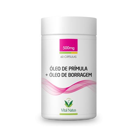 Óleo de Prímula + Óleo de Borragem 60 cápsulas – 500mg – Vital Natus - Saúde Pura