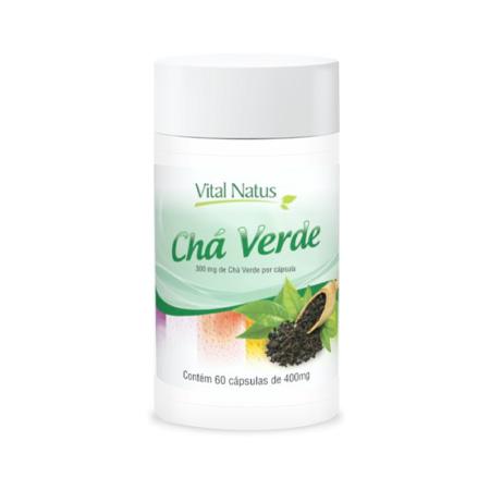 Chá Verde 60 cápsulas 500mg – Vital Natus - Saúde Pura