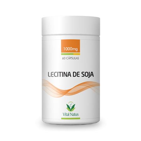 Lecitina de Soja 1g 60 cápsulas 1g – Vital Natus - Saúde Pura