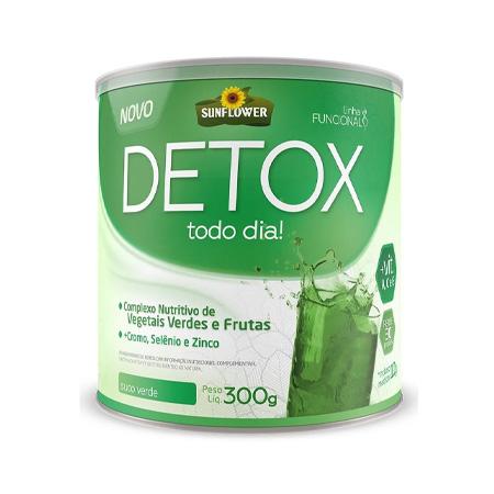 Detox Solúvel – Suco Verde – 300g – Sunflower - Saúde Pura
