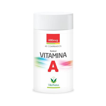 Vitamina A 60 comprimidos - 600mcg - Vital Natus - Saúde Pura