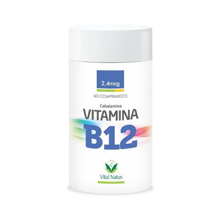 Vitamina B12 60 comprimidos - 2,4mcg - Vital Natus - Saúde Pura