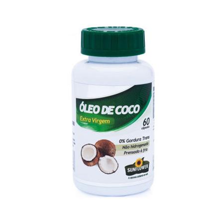 Óleo de Coco 60 cápsulas de 1400mg – Sunflower - Saúde Pura
