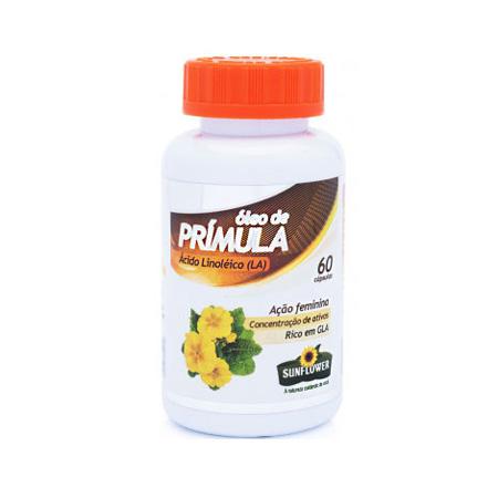 Óleo de Prímula 60 cápsulas – 500mg – Sunflower - Saúde Pura
