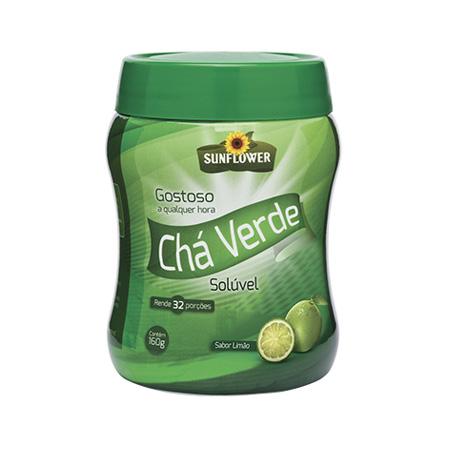 Cha Verde – Sunflower – sabor Limão 160gr - Saúde Pura