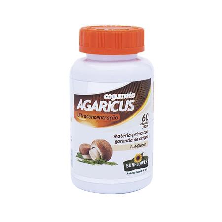 Cogumelo – Agaricus 60 Capsulas 450mg – Sunflower - Saúde Pura