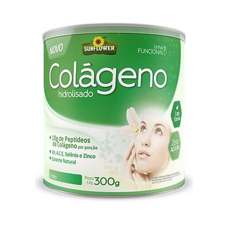 Colágeno Soluvel – Sabor Limão 300gr – Sunflower - Saúde Pura