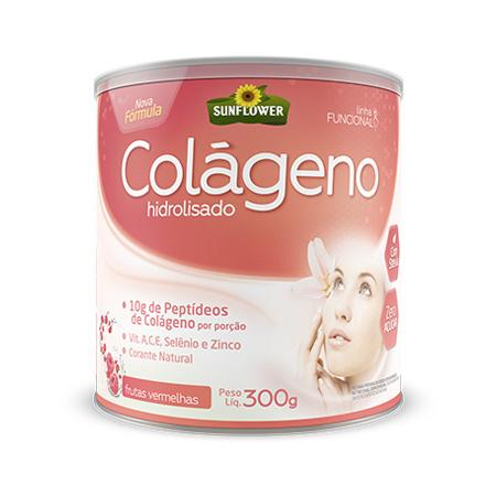 Colageno Soluvel Sunflower – Sabor Frutas Vermelhas – 300gr - Saúde Pura