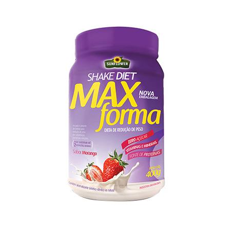 Shake Diet – Max Forma – Morango – 400gr – Sunflower - Saúde Pura