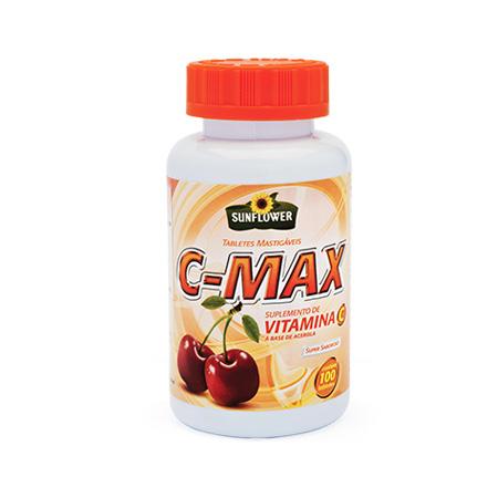 Vitamina C Sunflower C-Max – 100 Tabletes - Saúde Pura