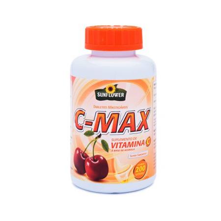 Vitamina C Sunflower C-Max – 200 Tabletes - Saúde Pura