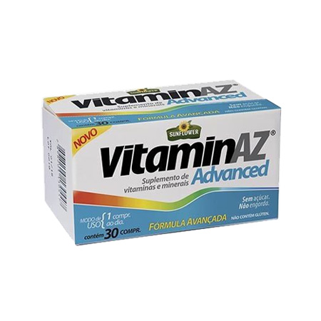 Vitaminaz – Advanced 30 Comprimidos 1.5g – Sunflower - Saúde Pura