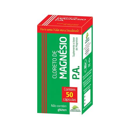 Cloreto de Magnésio P.A – Medinal – 50 Capsulas 500mg - Saúde Pura