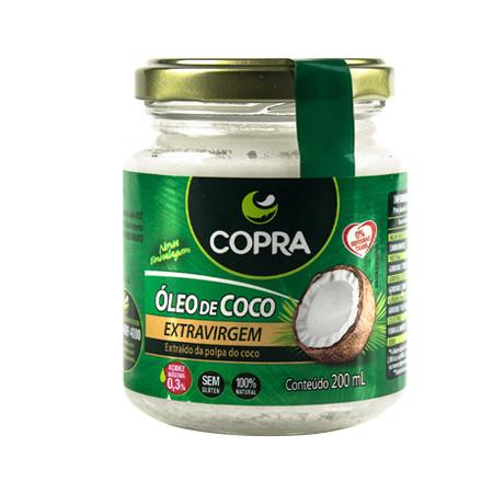 Óleo de Coco Extra Virgem – Copra – 200ml - Saúde Pura