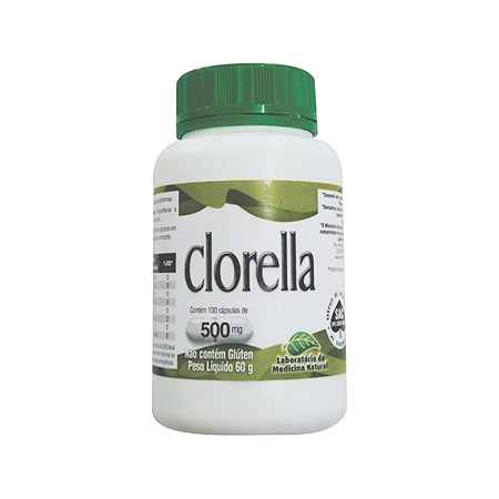 Clorella – 100 Capsulas 500mg – Medinal - Saúde Pura