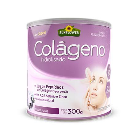Colágeno Soluvel – Sabor Frutas Roxas 300gr – Sunflower - Saúde Pura