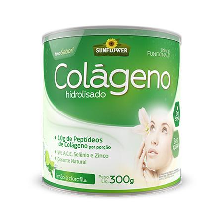 Colágeno Soluvel – Sabor Limão e Clorofila 300gr – Sunflower - Saúde Pura