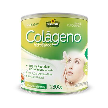 Colageno Soluvel – Sabor Abacaxi com Hortela – 300gr – Sunflower - Saúde Pura
