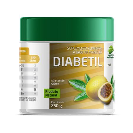 Diabetil 250gr – Farinha de Maracujá – Medinal - Saúde Pura