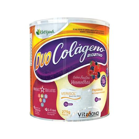 Duo Colágeno Bioativo Verisol 275g – Sabor Frutas Vermelhas – Katiguá - Saúde Pura