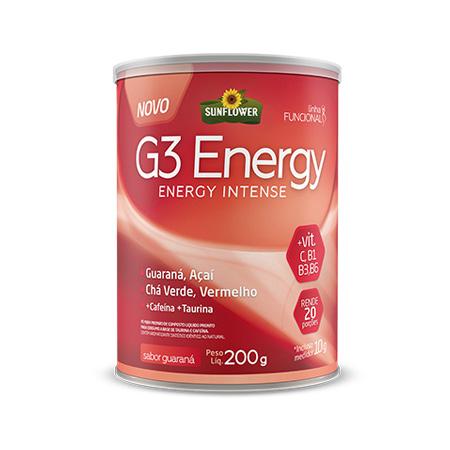 G3 Energy Energético – Sabor Guaraná – 200gr – Sunflower - Saúde Pura