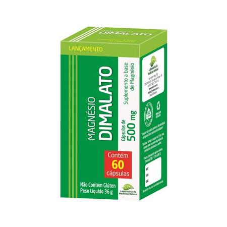 Magnesio Dimalato – 60 Capsulas 500mg – Medinal - Saúde Pura