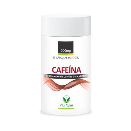 CAFEÍNA 500mg c/ 60 Capsulas – Vital Natus - Saúde Pura