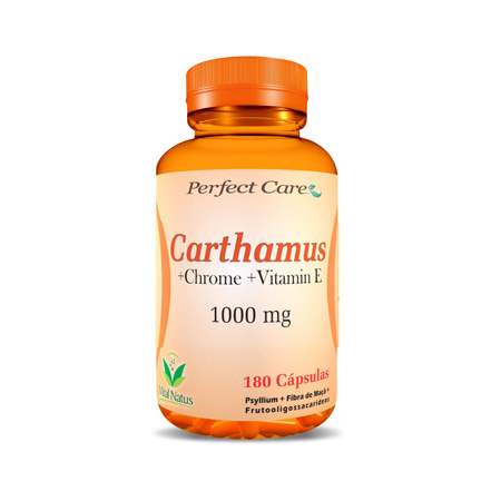 Carthamus Cromo E Vitamina E 1G – 120 Capsulas – Vital Natus - Saúde Pura