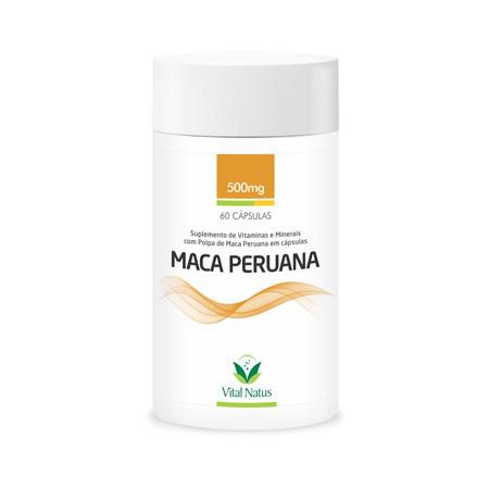 MACA PERUANA 500mg – 60 Capsulas – Vital Natus - Saúde Pura