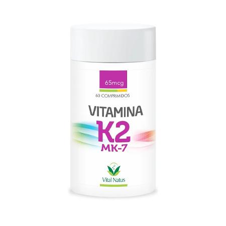 Vitamina K2 - MK7 65mcg - (Menaquinona-7) - 60 Comprimidos - Vital Natus - Saúde Pura