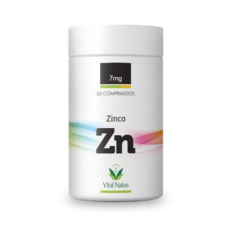 Zinco 7mg - 60 Comprimidos - Vital Natus - Saúde Pura