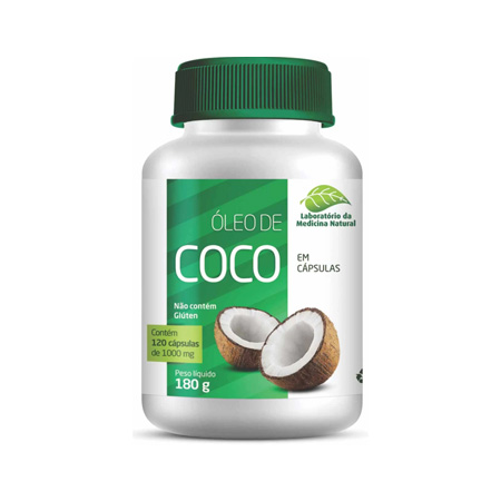 Óleo de Coco -120Caps 1000Mg – Medinal - Saúde Pura