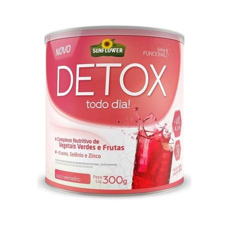 Detox Soluvel – Suco Vermelho – 300gr – Sunflower - Saúde Pura