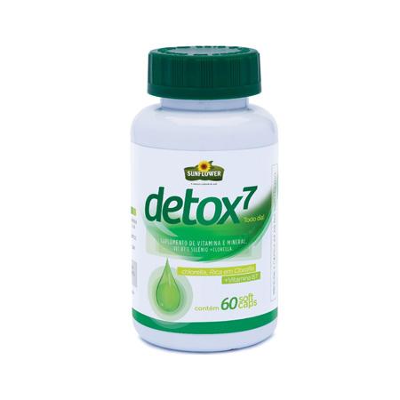 Detox7 Clorella, Linhaça Vit B7 E Selenio – 60-caps – sunflower - Saúde Pura