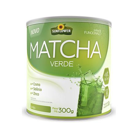 Matcha Solúvel – Sabor Limão – 300gr – Sunflower - Saúde Pura