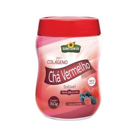 Chá Vermelho + Colágeno – Frutas Vermelhas- Sunflower 160g - Saúde Pura