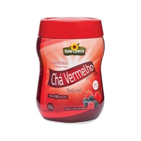 Chá Vermelho - Sunflower - Sabor Frutas Vermelhas 160gr - Saúde Pura