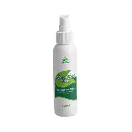 Álcool 70 Spray 120ml – Higienizador e Bactericida – Medinal - Saúde Pura