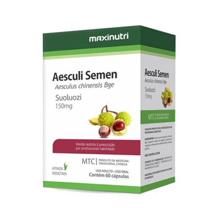 Castanha da Índia Aesculi Semen 60 Cápsulas 150mg MTC – Maxinutri - Saúde Pura