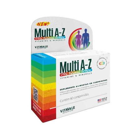 Multi A-Z Vitaminas e Minerais – 60 comprimidos – Vitavale - Saúde Pura