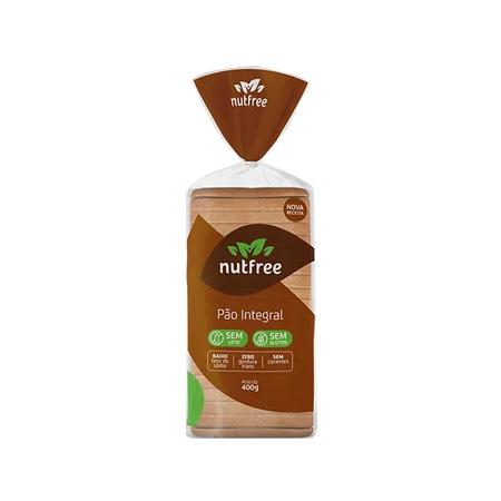 Pão Integral Sem Glúten e Sem Lactose 400g - Nutfree - Saúde Pura