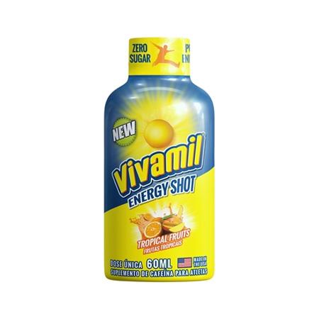 Vivamil Energy Shot Frutas Tropicais 60ml - Saúde Pura