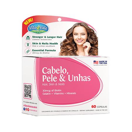 Cabelo, Pele & Unhas Vitavale 60 cápsulas - Vitavale - Saúde Pura