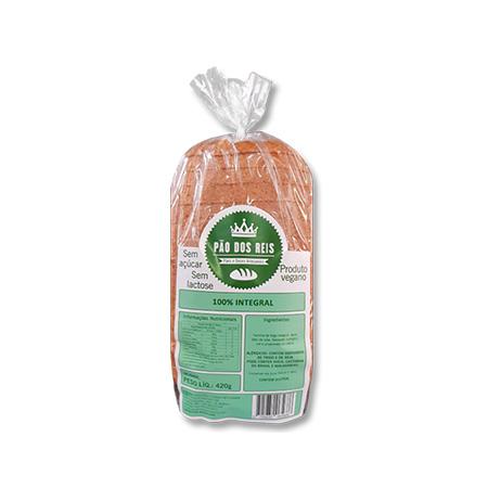 Pão 100% Integral 420g - Pão dos Reis - Saúde Pura