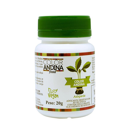 Adoçante de Stévia 100% Natural 20g – Color Andina Food