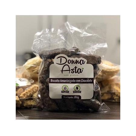 Biscoito Amanteigado com Chocolate Sem Glúten 280g – Donna Asta