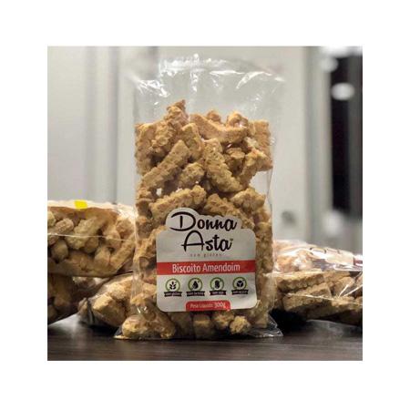 Biscoito de Amendoim Sem Glúten 280g – Donna Asta
