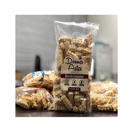 Biscoito de Castanha Sem Glúten 280g – Donna Asta