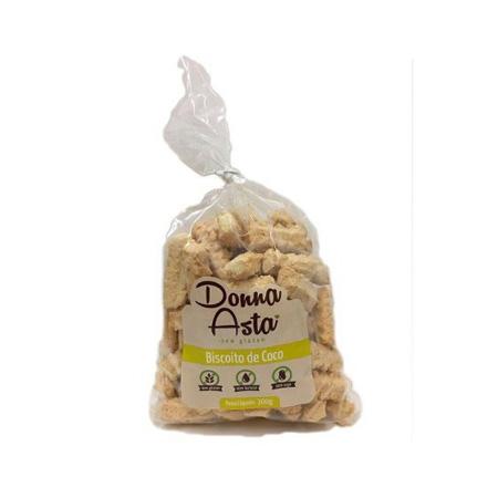 Biscoito de Coco Sem Glúten 280g – Donna Asta