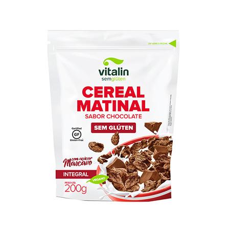 Cereal Matinal Sabor Chocolate Sem Glúten 200g – Vitalin